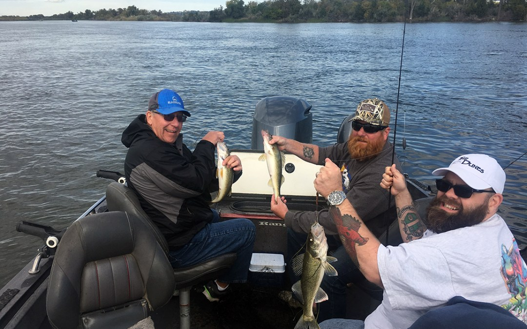 Great fall fishing in Pierre, South Dakota