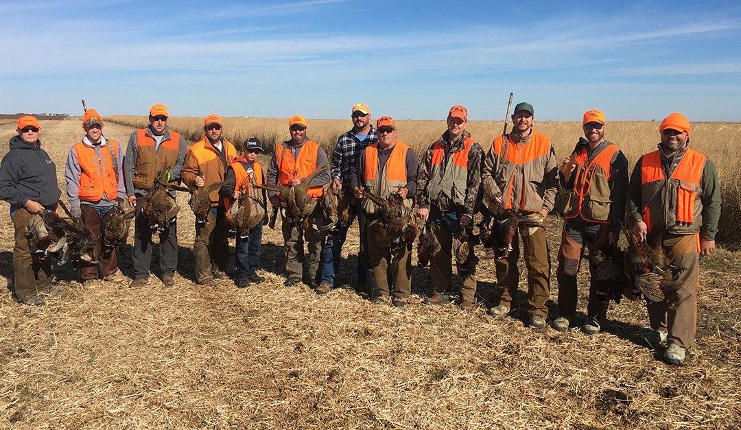 Group from Kansas enjoyed a three day South Dakota pheasant hunt