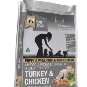 Meals for Mutts Dog Puppy Large Kibble Turkey & Chicken Grain Free Gluten Free 20Kg Grey
