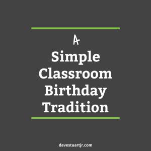 Post Image- Birthday Tradition