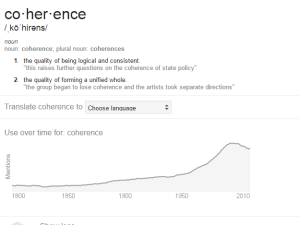 Figure 3: Coherence, definitions and etymology.
