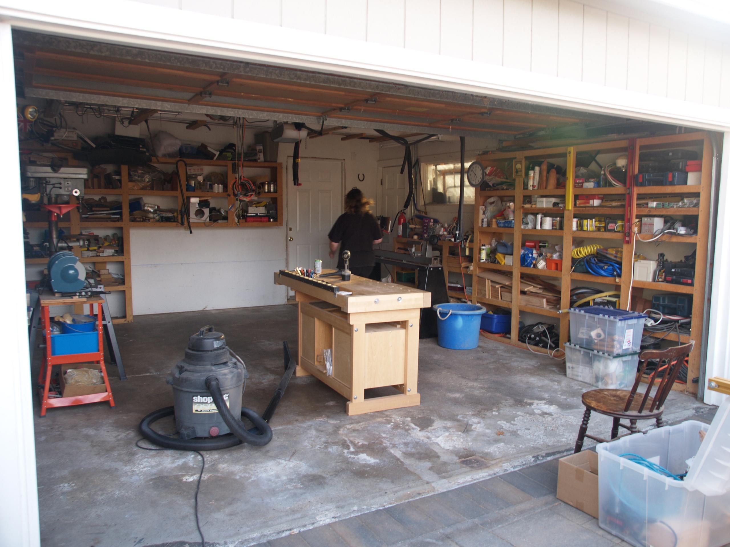 Perfect Anthony39s Garage Woodshop  The Wood Whisperer