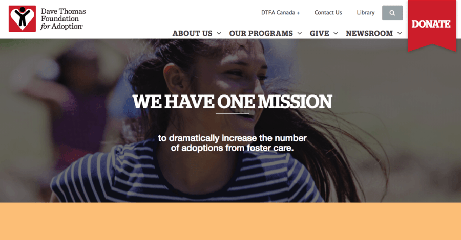 Dave Thomas Foundation for Adoption   Foster Care Adoption