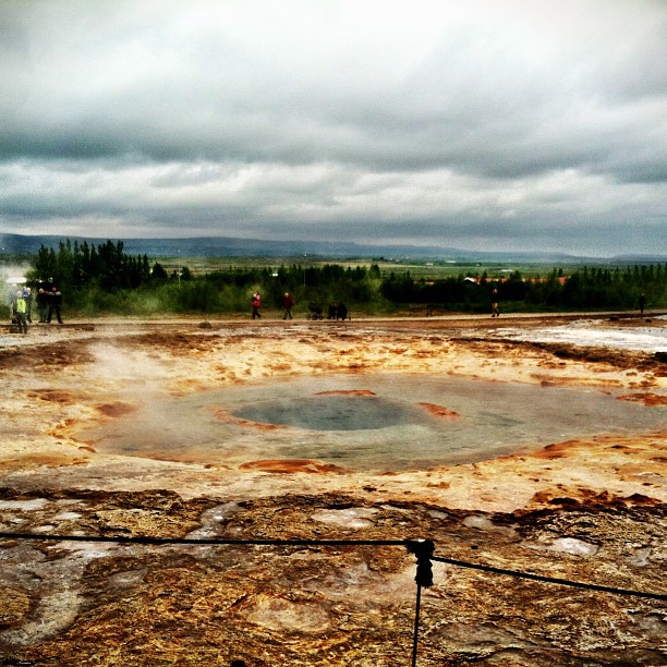 Geysir, before erupting #iceland #latergram