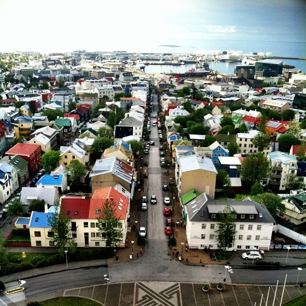 Nice view from the top of Reykjavik. (I'm adding all these extra Iceland photos for a blog post, if you were curious)!