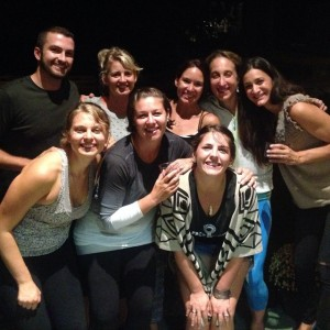 Yoga teacher training reunion.