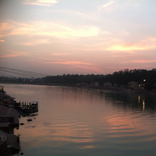 Sundown over the Ganga.
