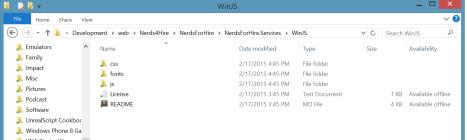 WinJS Folder