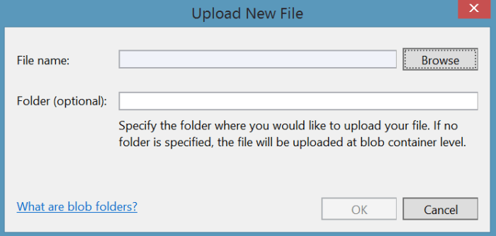 upload new file azure blob storage