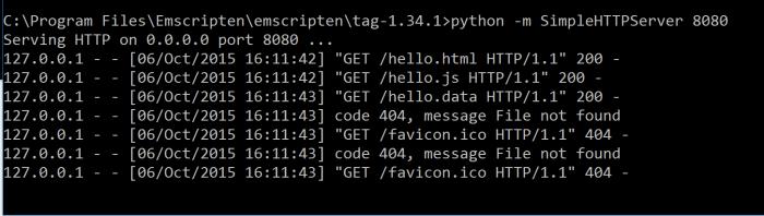 emscripten-python-simple-server