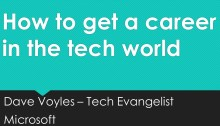 How to get a career in the tech
