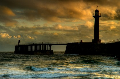 Storm over Whitby Harbour