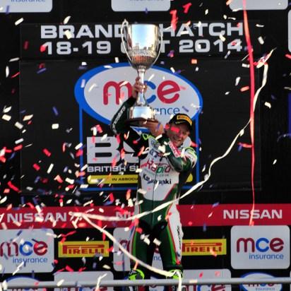 Celebrating BSB Championship at Brands Hatch 2014