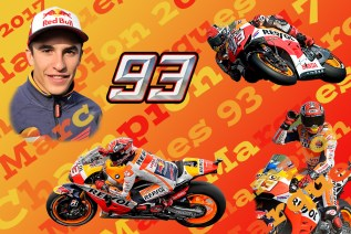 Marc Marques.Moto GP Champion 2017, Limited Edition Print 1-93