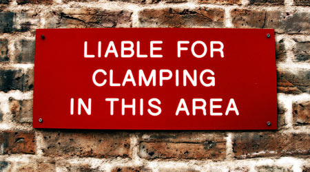 Liable for Clamping in this Area