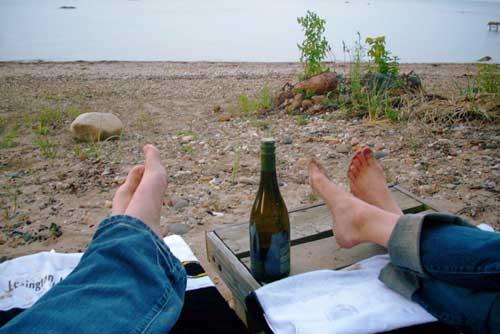 Feet + Wine + Beach = OSM