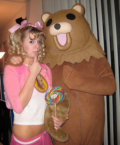 Pedo Bear and Little Girl