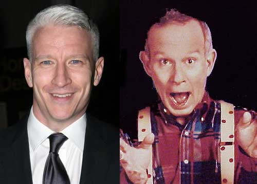 Anderson Cooper and Tommy Smothers