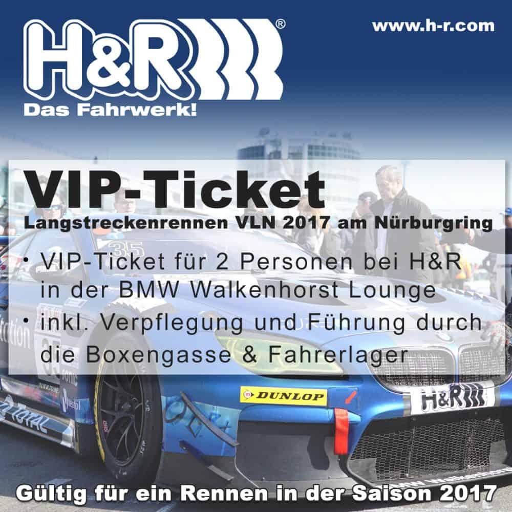 VIP Ticket GEwinnspiel - H&R