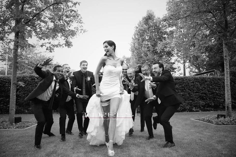 Huwelijksfotograaf zwart wit