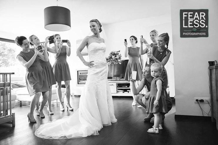 Bruidsmeisjes paparazzi