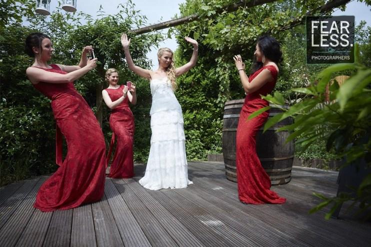 Bruidsmeisjes en bruid huwelijksfotograaf Brussel