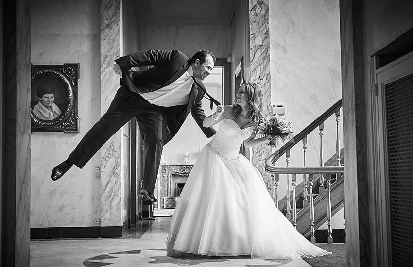 Zwart wit huwelijksreportages