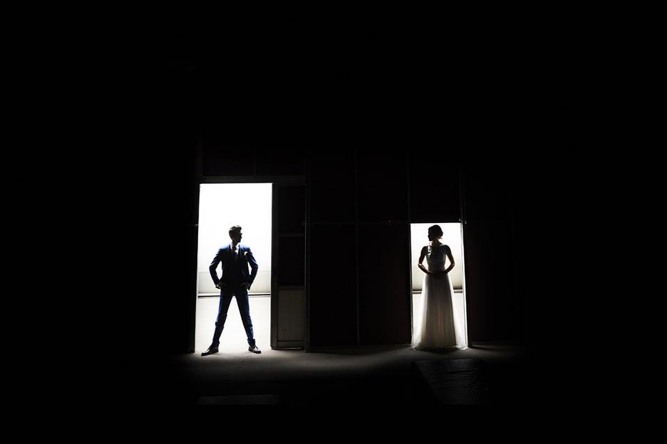 zwart wit huwelijksfotografie
