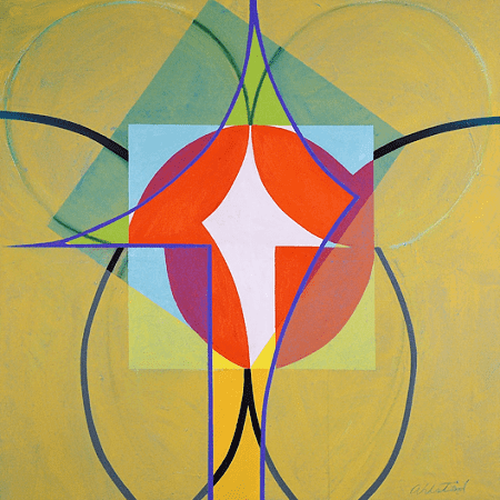 """""""Criquet II"""", oil on canvas, 36 x 36""""."""", oil on canvas, 36 x 36""""."""