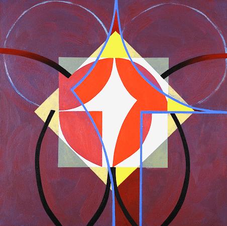 """""""Criquet"""", oil on canvas, 36 x 36""""."""
