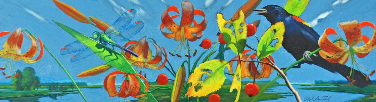 """David Ahlsted - """"Early Summer"""", Oil on Board, 10 x 36"""""""