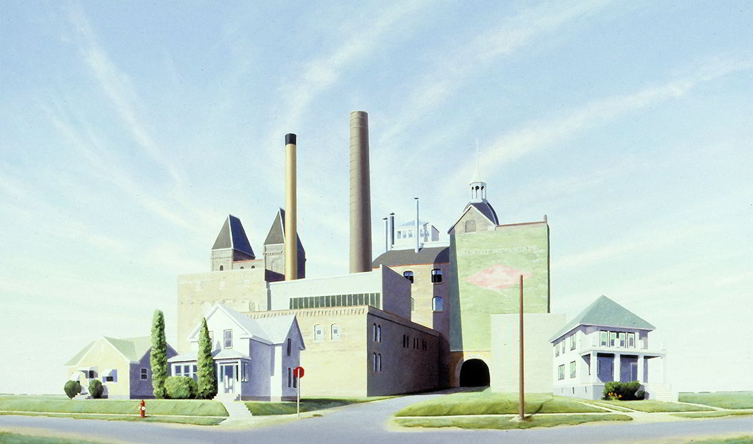 "David Ahlsted - ""Grainbelt Brewery"", Oil on Linen, 48 x 80"""