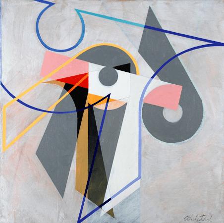 """""""Rotation"""", oil on canvas, 36 x 36""""."""