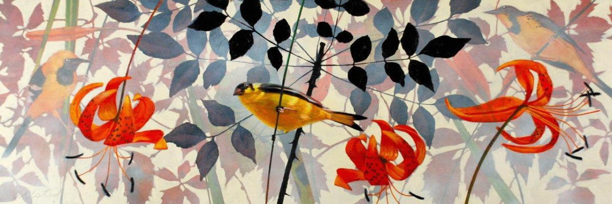 """David Ahlsted - """"Summers Dawn"""", Oil on Canvas, 20 x 58"""""""