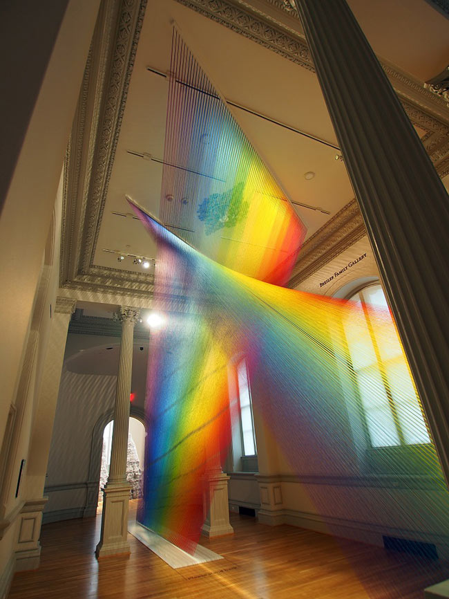 Rainbows Through The Smithsonian With 60 Miles Of Thread
