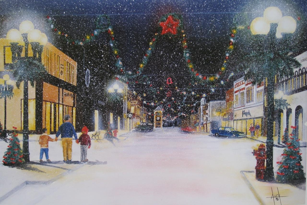 New Ulm Christmas Town David Allen Art