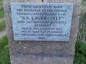 2014- Alderney site of Lager Sylt Concentration Camp
