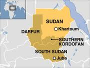 Map of Darfur and South Kordofan
