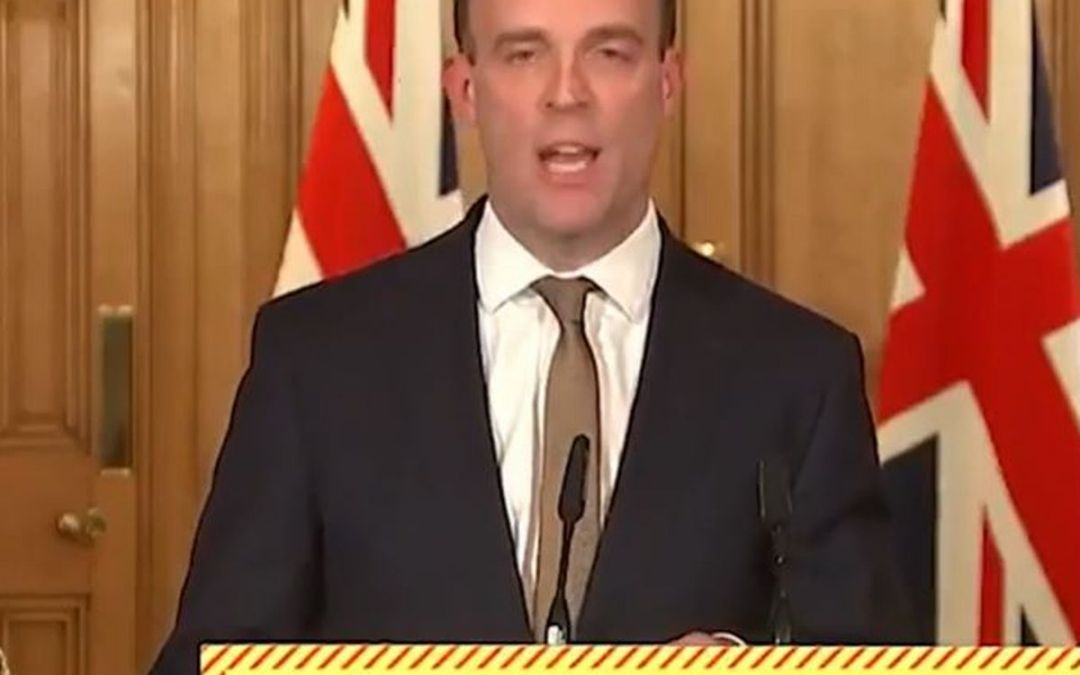 Dominic Raab declares a breach of the British-Sino joint Declaration while Hong Kong Watch says a mass purge of democrats underlines Beijing's disregard for international law