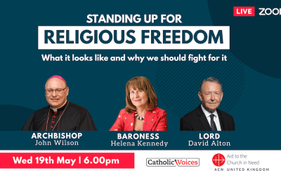 """Standing up for religious freedom. Webinar on Faith and Freedom – What it looks like and why we should fight for it . Religious freedom is often described as an """"orphaned right"""".  This liberty, central to a free society, is under-recognised and frequently trampled on."""