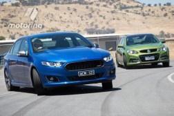 Ford Falcon XR8 v Holden Commodore SS V-Series Redline 2015 Comparison