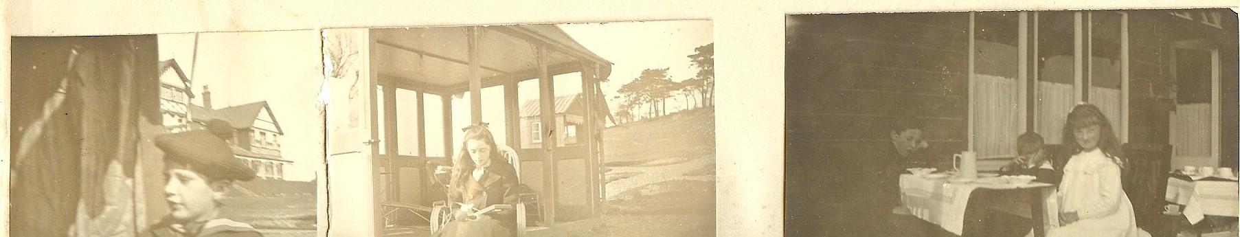 Easter 1901 - W J Fanning's son at the sanatorium