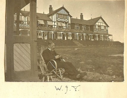 Easter 1901 - William Joseph Fanning , sitting outside the Sanitorium