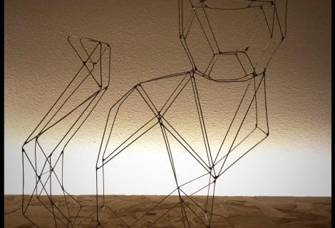 Wire art cat