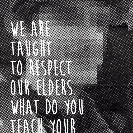 David Bernie Art Posters Print Indian Country 52 Respect our Elders Postcard Campaign Covington Catholic