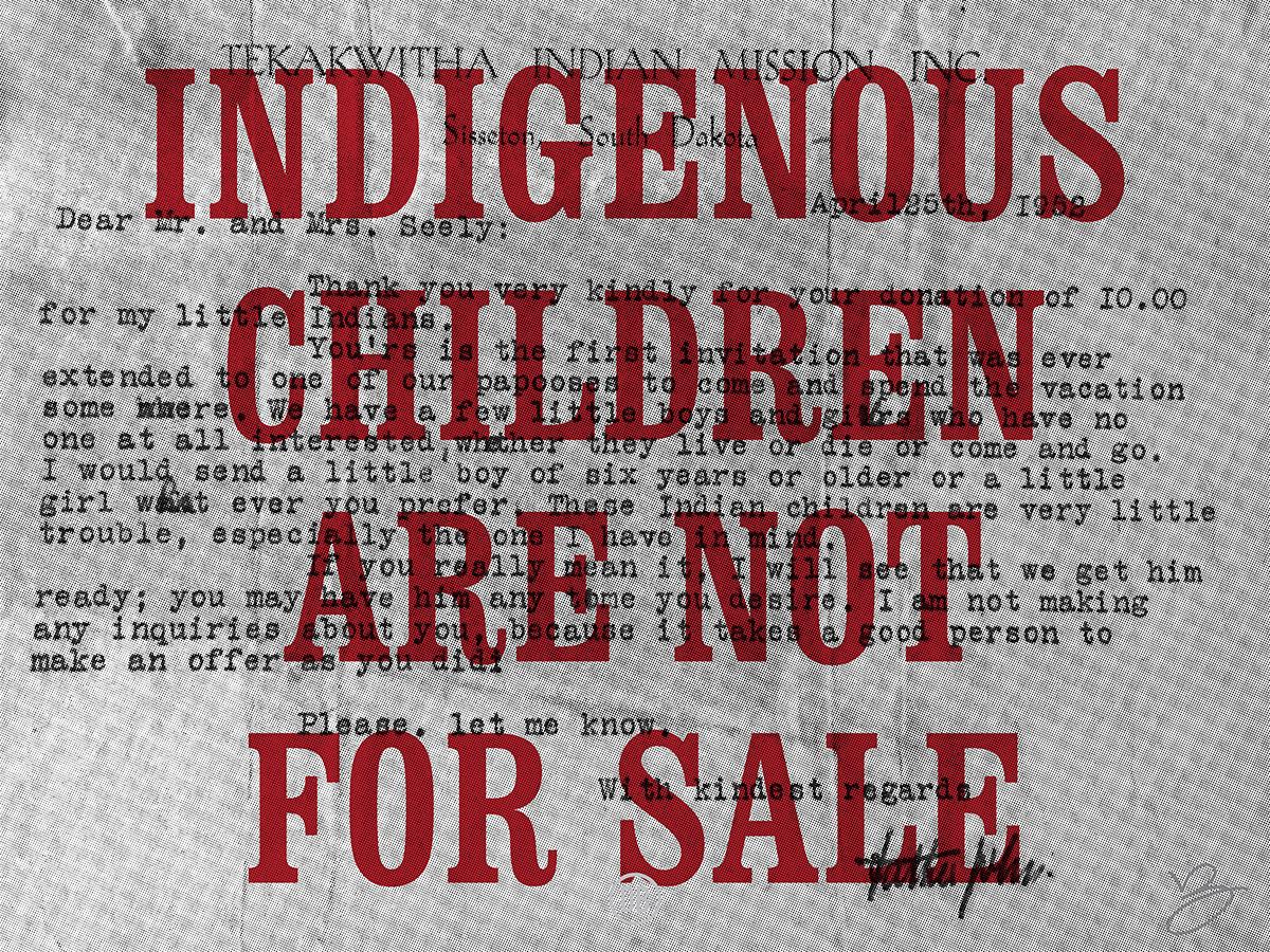 d1986dd6f07 David Bernie Poster Print Indigenous Children are not for Sale Native  American ICWA NICWA Adoptions