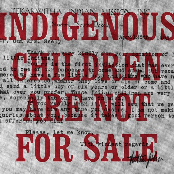 David Bernie Poster Print Indigenous Children are not for Sale Native American ICWA NICWA Adoptions