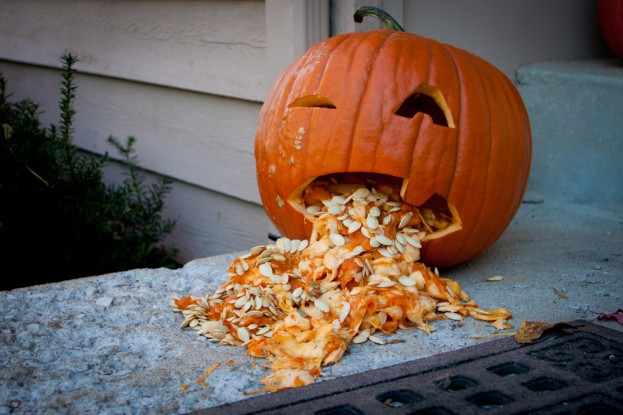 Puking Pumpkin by David Bickley