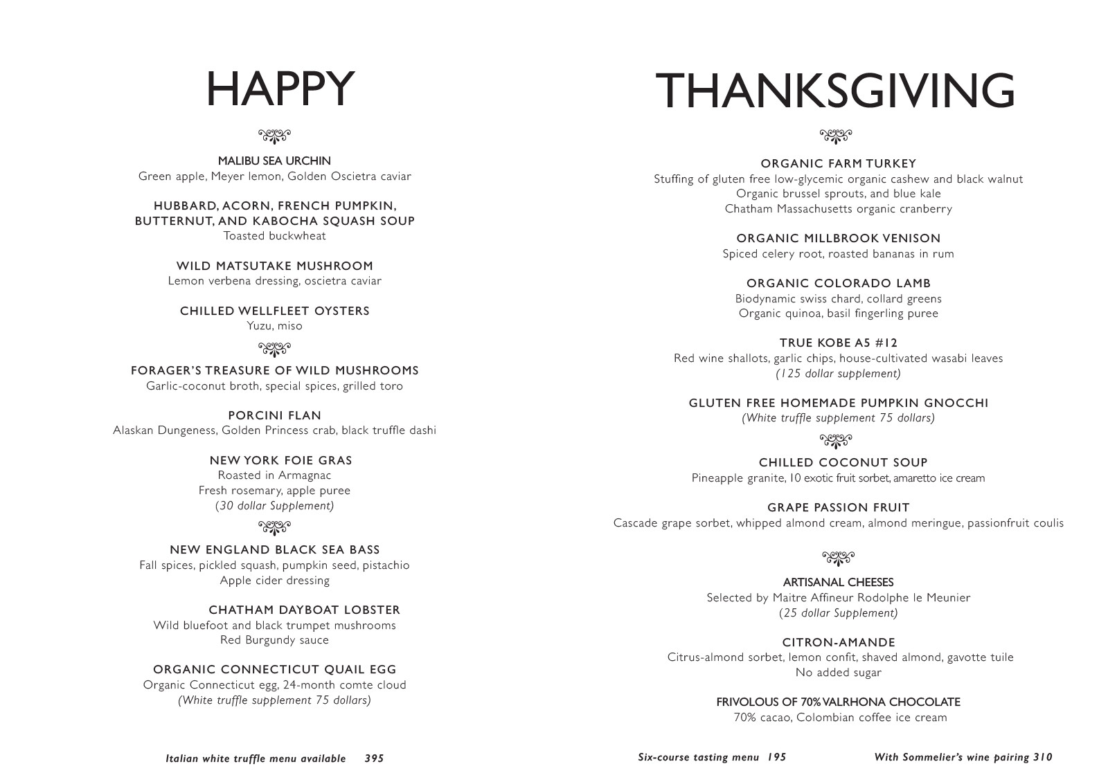 Bouley Thanksgiving