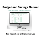 Visual advertising my Budget and Savings Planner spreadsheet product